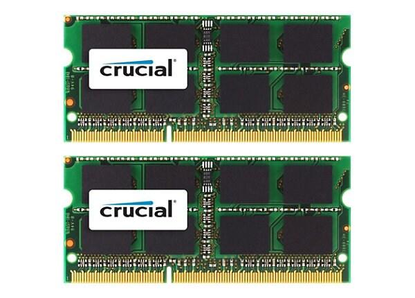 Crucial - DDR3 - 4 GB: 2 x 2 GB - SO-DIMM 204-pin