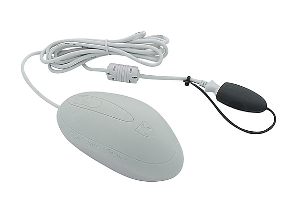 Seal Shield Waterproof - mouse - PS/2, USB - white