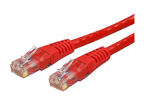 StarTech.com Cat6 Ethernet Cable 7 ft Red - Cat 6 Molded Patch Cable