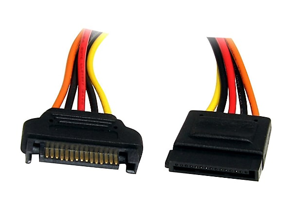 StarTech.com 12in 15 pin SATA Power Extension Cable - power extension cable