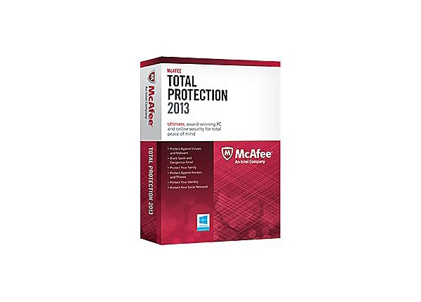McAfee Total Protection 2013 - box pack (1 year) - 1 PC