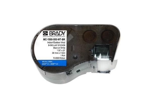 Brady B-595 - labels - 1 roll(s) - Roll (1.5 in x 25 ft)