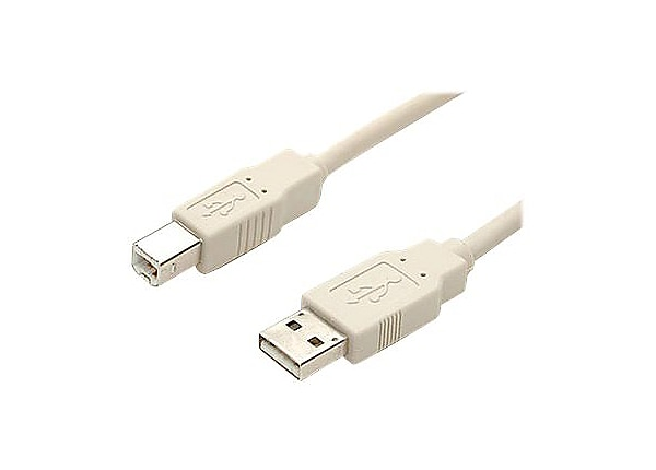 StarTech.com 15 ft Beige A to B USB 2.0 Cable - M/M - 15ft A to B USB 2.0