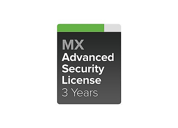Cisco Meraki MX60W Advanced Security - subscription license (3 years) - 1 l