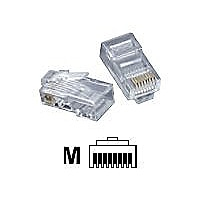 C2G Modular Plug - network connector - clear