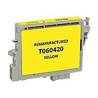 Clover Remanufactured Ink for Epson T060420, Yellow, 600 page yield
