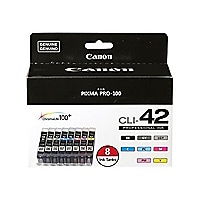 Canon CLI-42 Color Ink Value Pack - 8-pack - gray, yellow, cyan, magenta, l