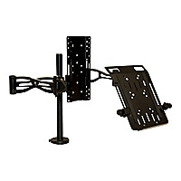 Fellowes Professional Series Depth Adjustable Dual Monitor Arm - desk mount