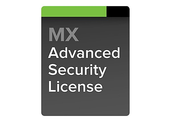 1 Year Cisco Meraki MX60 Advanced Security License and Support Cloud Controller