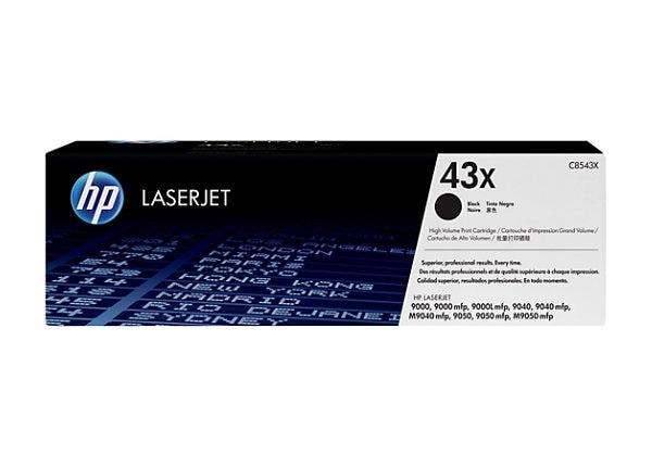 HP 43X Black High Yield Toner Cartridge