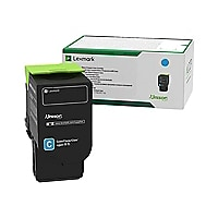 Lexmark 701XC - Extra High Yield - cyan - original - toner cartridge - LCCP
