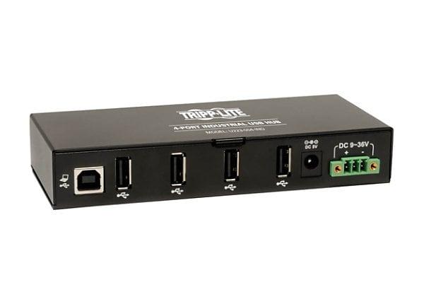 Tripp Lite 4-Port Rugged Industrial USB 2.0 Hi-Speed Hub 15KV ESD Immunity