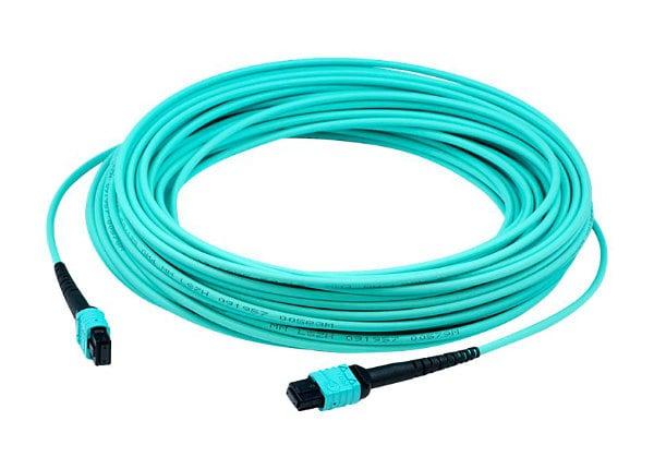 Proline 15m MPO (F)/MPO (F) 12-Strand Aqua OM3 Crossover OFNR Patch Cable