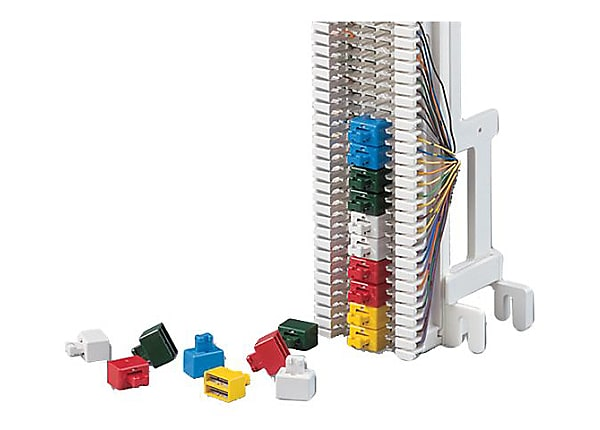 Siemon S66 Colored Bridging Clips - network bridging clips