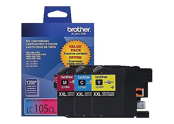 Brother LC1053PKS Tri-color Super High Yield Toner Cartridge - Pack of 3