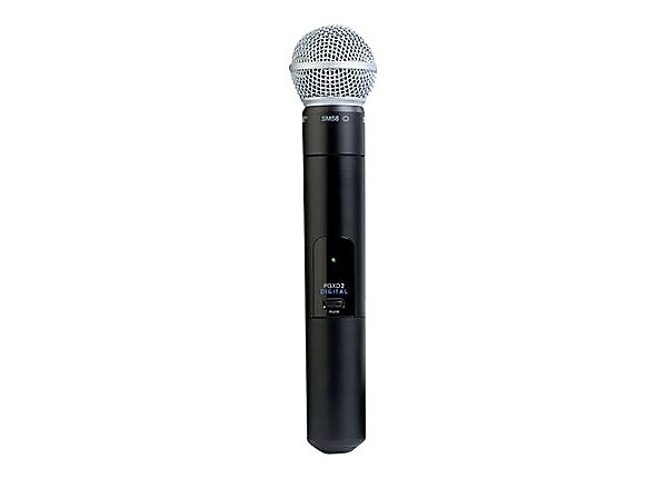 Shure SM58 - wireless microphone - with PGXD2 Handheld Wireless Transmitter