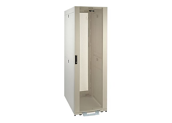 Tripp Lite 42U Rack Enclosure Server Cabinet White Shock Pallet Doors Sides