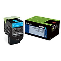 Lexmark 800XCG - Extra High Yield - cyan - original - toner cartridge - LCC