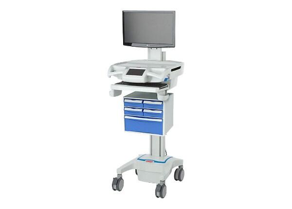 Capsa Healthcare CareLink RX Full-Featured Mobile Nurse Station - cart