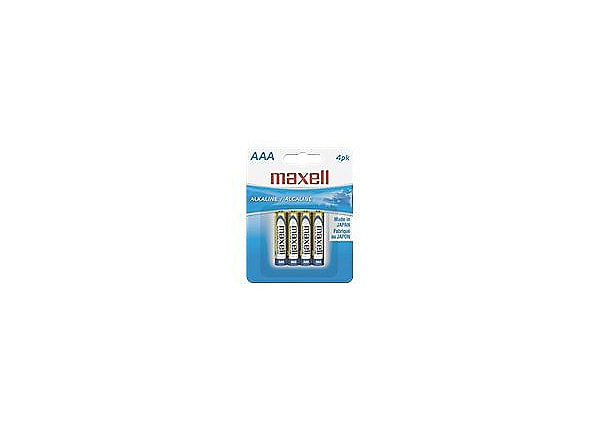 Maxell Gold battery - 4 x AAA type - alkaline