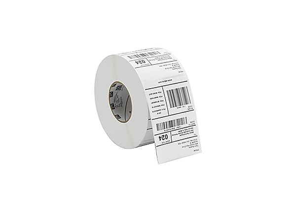 Zebra Label, Paper, 2 x 1.5in, Direct Thermal, 8000D Lab, 0.75 in core