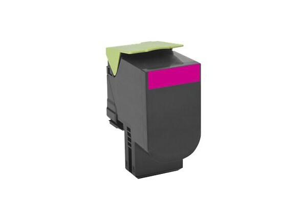 Lexmark 701M - magenta - original - toner cartridge - LCCP, LRP