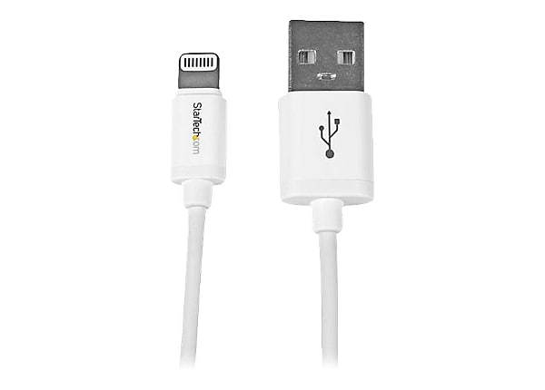 StarTech.com White Apple 8-pin Lightning to USB Cable for iPhone iPod iPad
