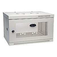 Tripp Lite 6U Wall Mount Rack Enclosure Cabinet Wallmount Doors Sides White