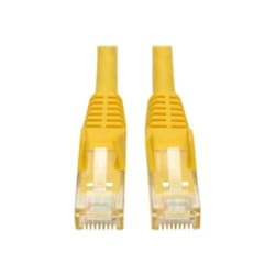 Tripp Lite 1ft Cat6 Gigabit Snagless Molded Patch Cable RJ45 M/M Yellow 1'