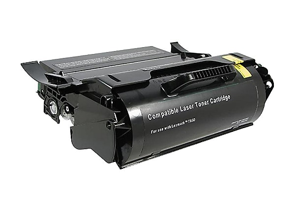 Clover Remanufactured Toner for Lexmark T650/T654, Black, 25,000 page yield