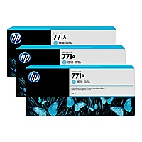 HP 771A Tri-pack - 3-pack - light cyan - original - ink cartridge