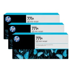 HP 771A Tri-pack - 3-pack - photo black - original - ink cartridge