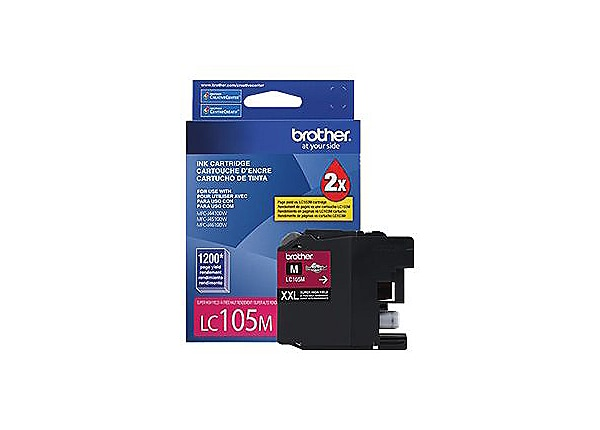 Brother LC-105M XXL - Super High Yield - magenta - original - ink cartridge
