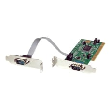 2 Port PCI Low Profile RS232 Serial Adapter Card w/ 16550 UART Low Profile
