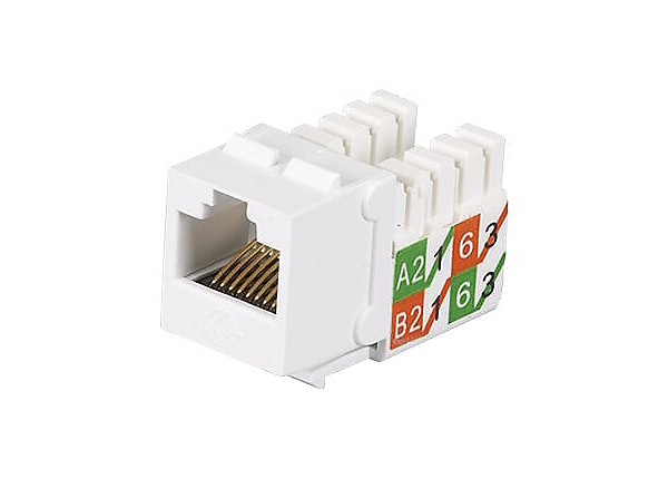 Black Box Gigatrue2 CAT6 White RJ45 110 Keystone Jack ETL Verified