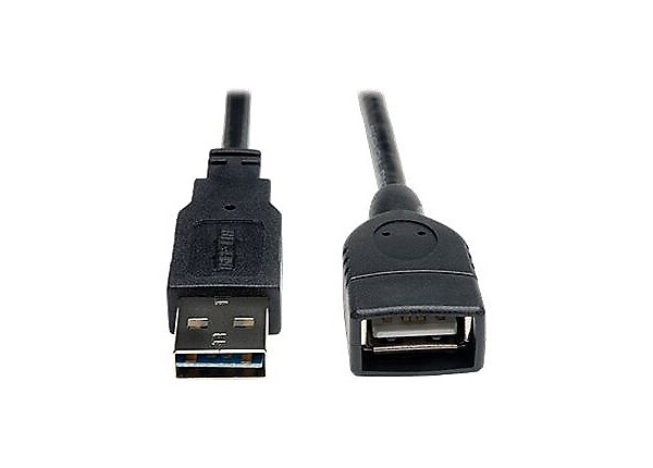 Tripp Lite 1ft USB 2.0 Hi-Speed Extension Universal Reversible Cable M/F 1'