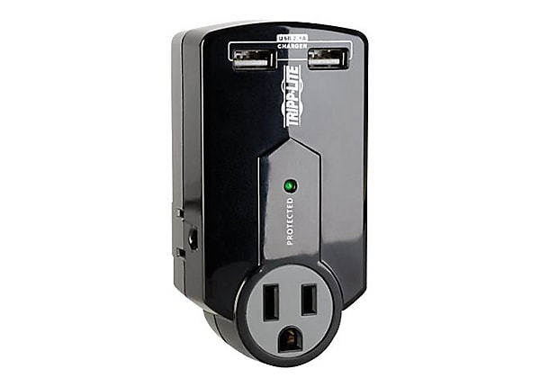 Tripp Lite Surge Protector Direct Plug-In 3 Outlet 2.1A USB Charger 540 J