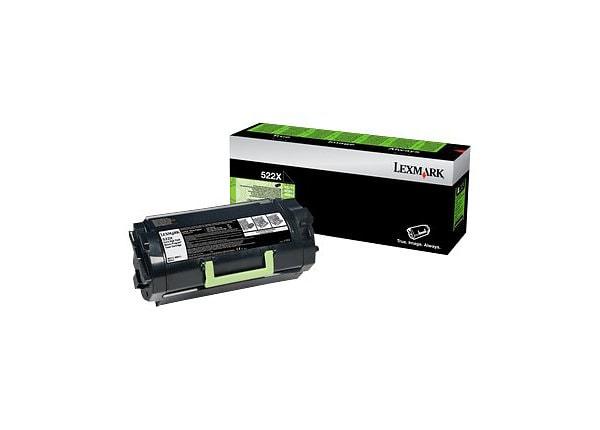 Lexmark 520XA - Extra High Yield - black - original - toner cartridge - LCC