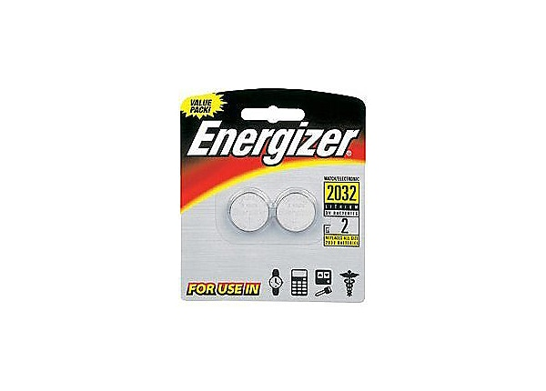 Energizer battery - 2 x CR2032 - Li