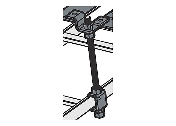 Middle Atlantic CL Series CLH-5/8ROD-12-4 - mounting threaded rod