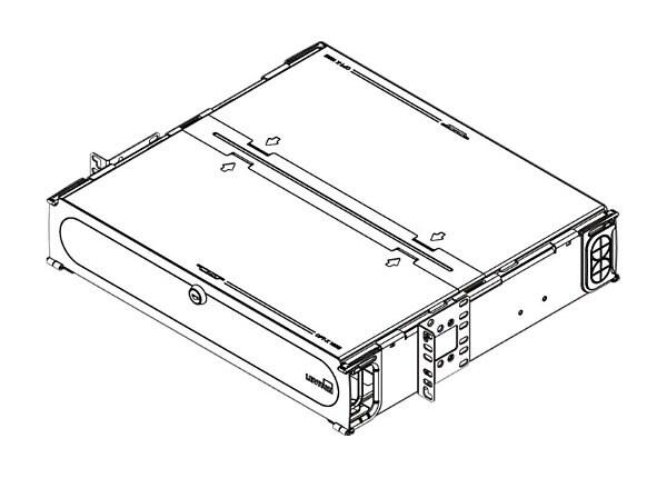 Leviton Opt-X 1000i Rack-Mount Enclosure - fiber-optic splice tray holder -