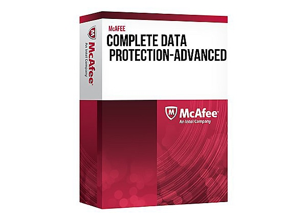 McAfee Complete Data Protection Advanced - license + 1 Year Gold Business S