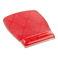 3M Precise Optical Mouse Pad with Gel Wrist MW308-CL Coral - mouse pad with