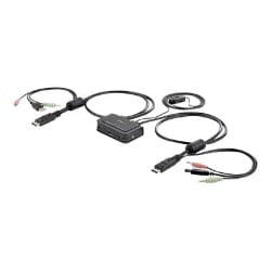 StarTech.com 2 Port USB DisplayPort Cable KVM Switch w/ Remote Switch - KVM