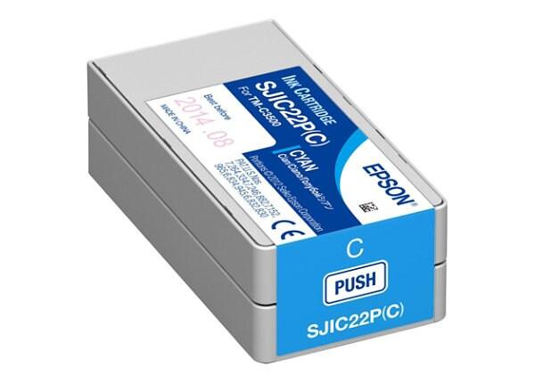 Epson SJIC22P(C) - cyan - original - ink cartridge