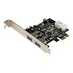 StarTech.com 2 Port PCI Express (PCIe) USB 3.0 Card with UASP - LP4 Power