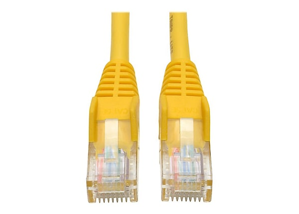 Tripp Lite 1ft Cat5e / Cat5 350MHz Snagless Patch Cable RJ45 M/M Yellow 1'
