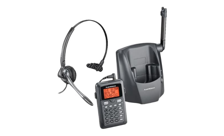 Poly Plantronics Ct 14 Cordless Headset Phone Cordless Phone With Calle 80057 11 Headsets Cdw Com