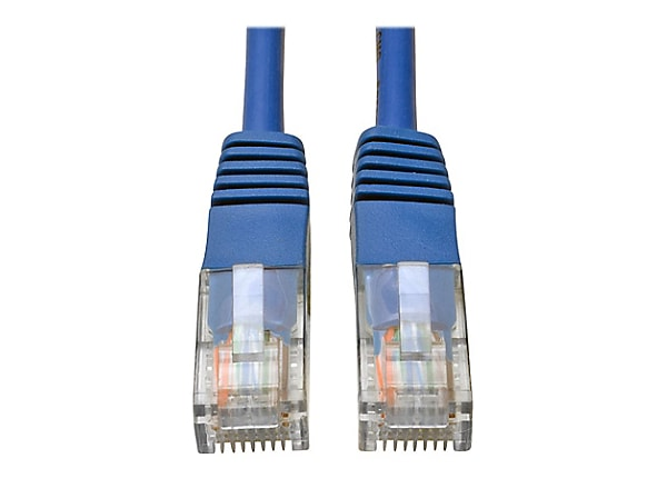 Tripp Lite 7ft Cat5e / Cat5 350MHz Molded Patch Cable RJ45 M/M Blue 7'