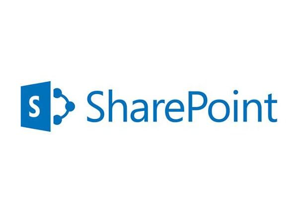 Microsoft SharePoint Server Enterprise CAL - licence - 1 licence d'accès client utilisateur